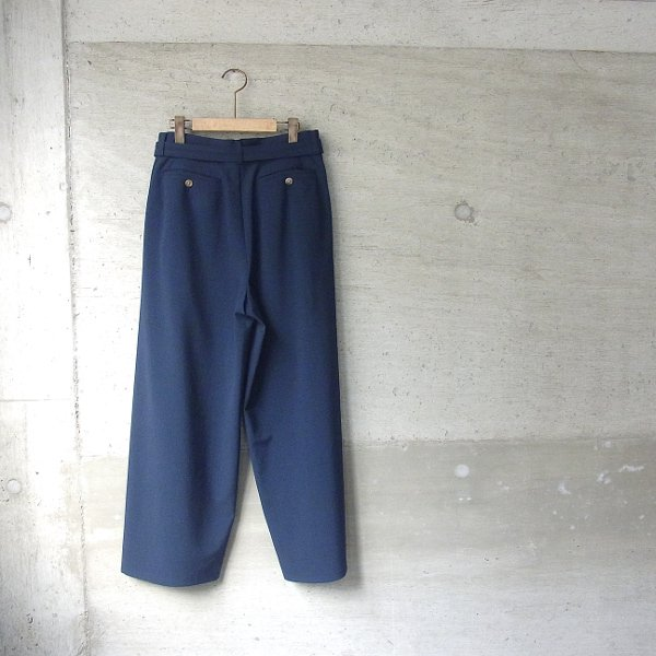 DIGAWEL | BELT WIDE PANTS(NAVY)