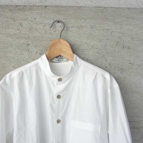 ippei takei | band collar shirts(white)