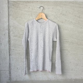 YOUNG & OLSEN The DRYGOODS STORE | JAQUARD RIB HENLEY NECK(HEATHER)
