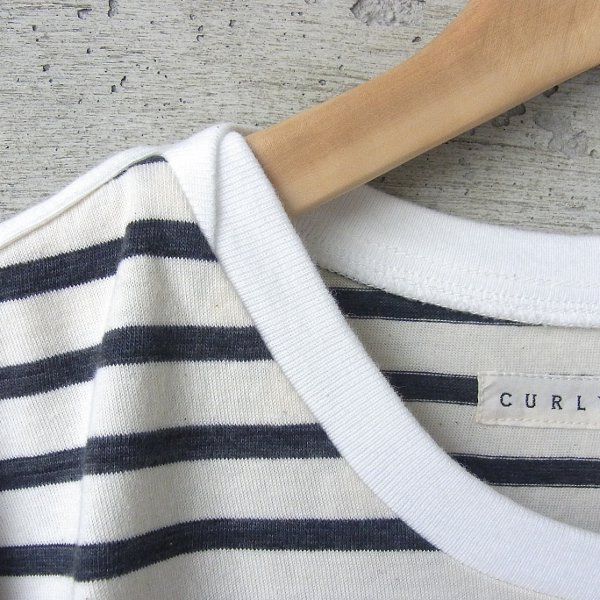 20%OFF | CURLY | BRUSH BORDER SS TEE(WHITE x BLACK)