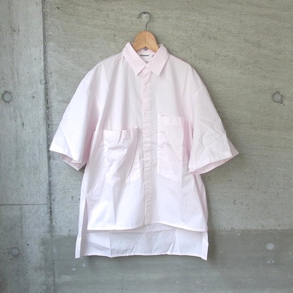 DIGAWEL | BIG POCKET S/S SHIRT -GARMENT DYE-(L.PINK)