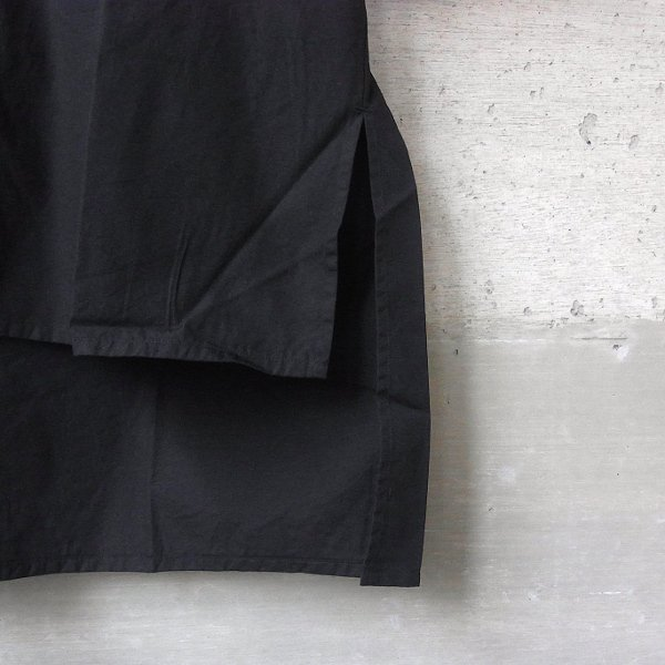 DIGAWEL | BIG POCKET S/S SHIRT -GARMENT DYE-(BLACK)