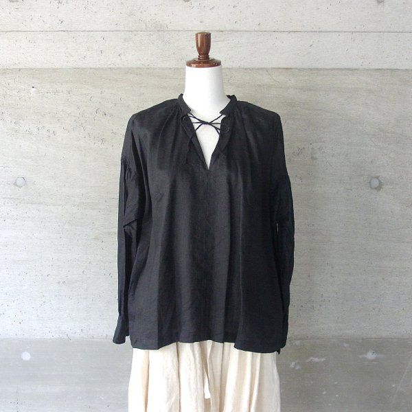 Ordinary fits | FLORIST BLOUSE linen(BLK)