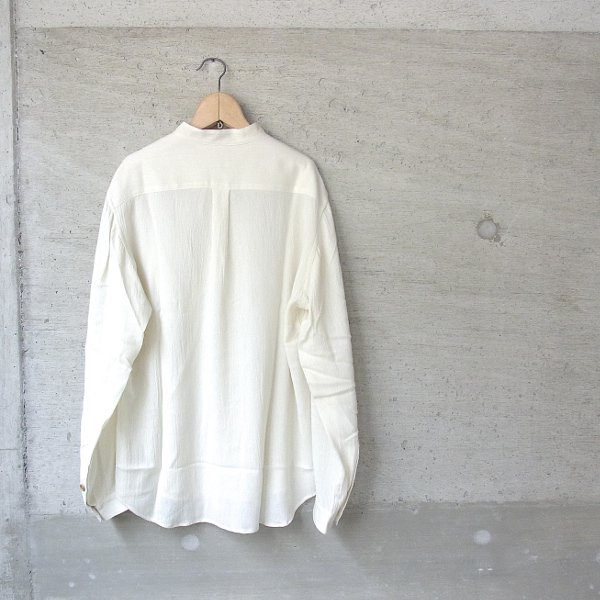 ippei takei | band collar shirts(cream)