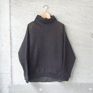ippei takei | rib neck sweat(black)