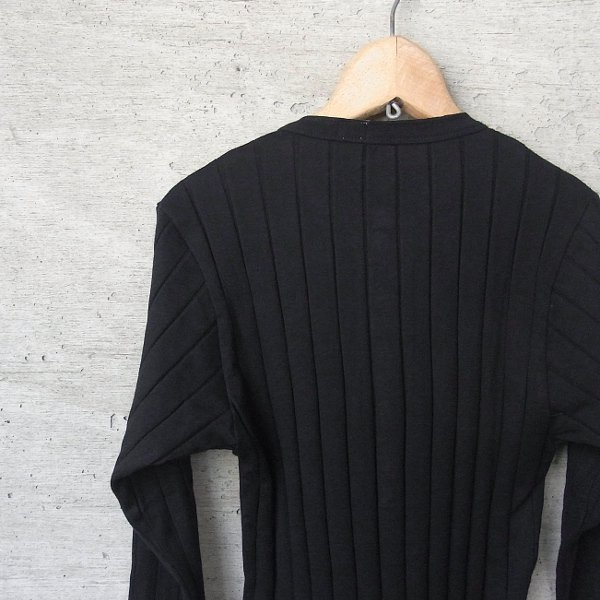 YOUNG & OLSEN The DRYGOODS STORE   BROAD RIB HENLEY NECK LS(BLACK)