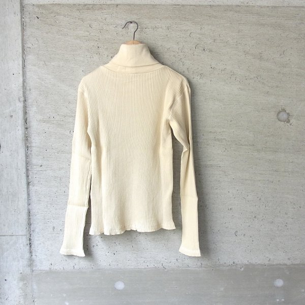 YOUNG & OLSEN The DRYGOODS STORE | ZINC RIB TURTLE NECK(IVORY)