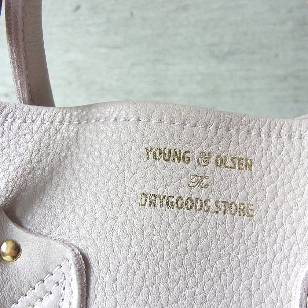 YOUNG & OLSEN The DRYGOODS STORE   EMBOSSED LEATHER TOTE M(BABY PINK)