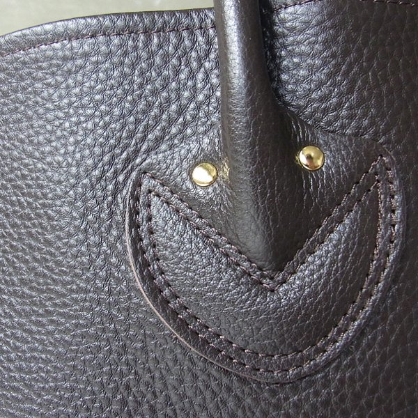 YOUNG & OLSEN The DRYGOODS STORE | EMBOSSED LEATHER TOTE L(DARK BROWN)