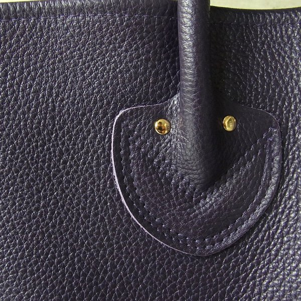 YOUNG & OLSEN The DRYGOODS STORE | EMBOSSED LEATHER TOTE L(PURPLE)