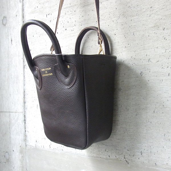 YOUNG & OLSEN The DRYGOODS STORE   PETITE LEATHER TOTE(DARK BROWN)