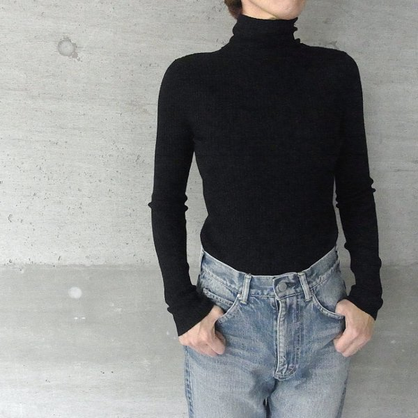 YOUNG & OLSEN The DRYGOODS STORE | WOOL/CA TURTLE NECK(BLACK)