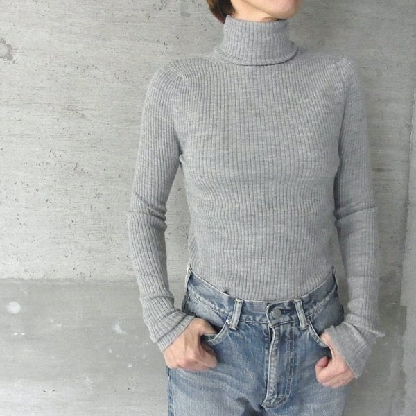 YOUNG & OLSEN The DRYGOODS STORE | WOOL/CA TURTLE NECK(HEATHER)