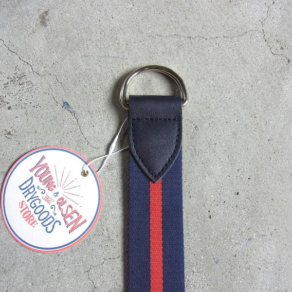 YOUNG & OLSEN The DRYGOODS STORE | HORSE WEBBING BELT(NAVY)