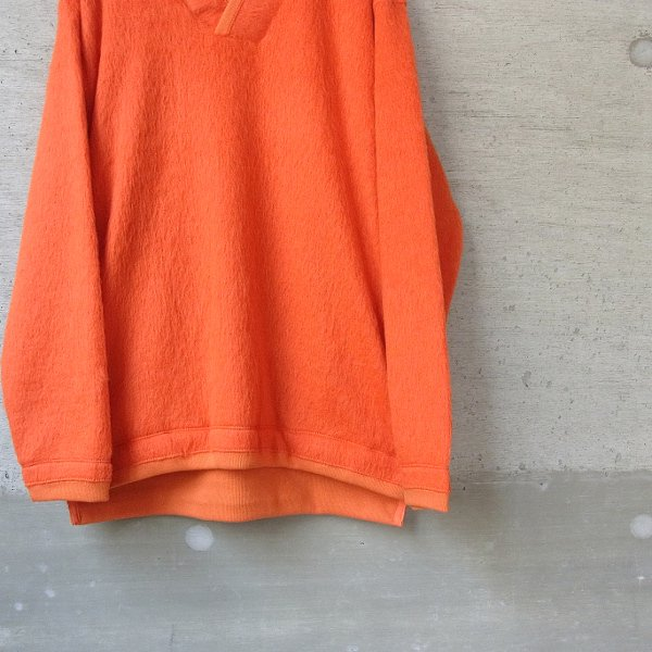 【30%OFFセール】CURLY | TRIM SHAGGY SWEATER(ORANGE)