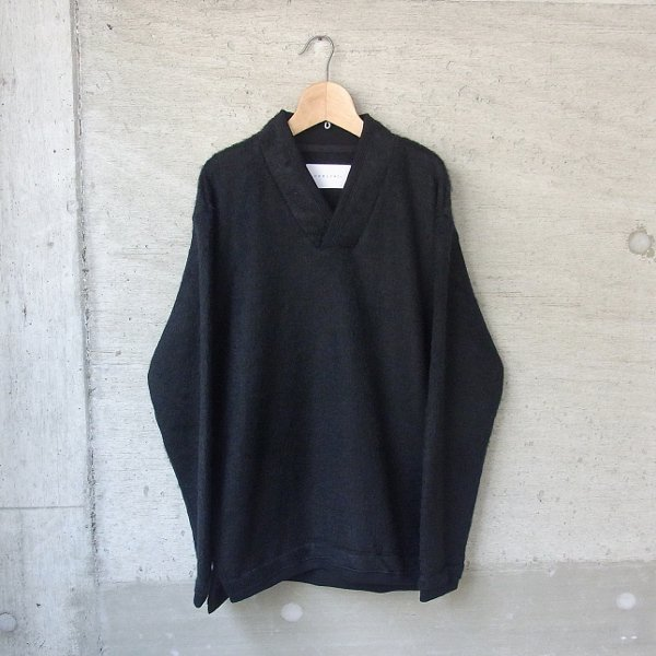 CURLY | TRIM SHAGGY SWEATER(BLACK)