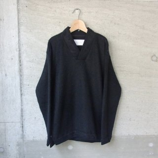 【50%OFFセール】CURLY | TRIM SHAGGY SWEATER(BLACK)