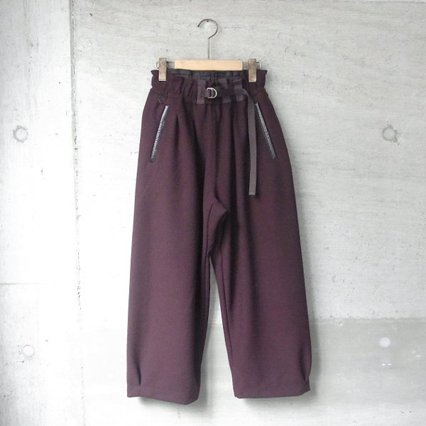 CURLY | AZTEC WIDE TROUSERS(BURGUNDY)
