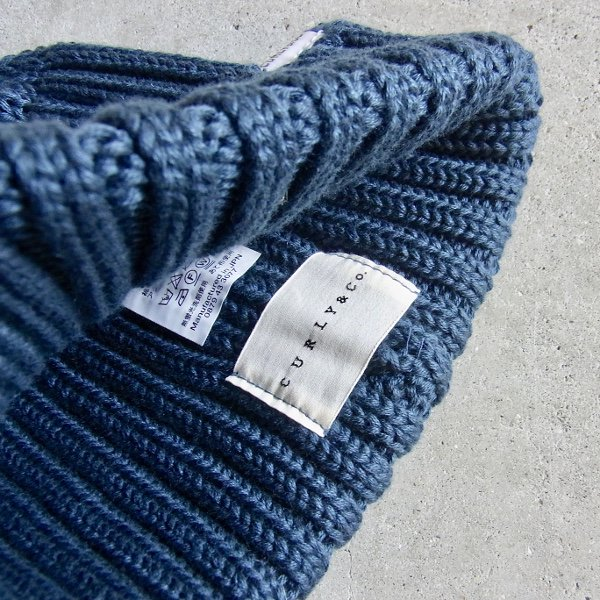 CURLY | CLOUDY KNIT CAP(INK BLUE)