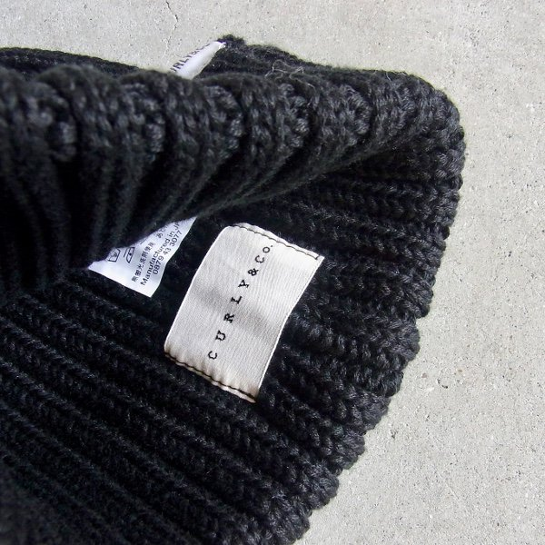 CURLY | CLOUDY KNIT CAP(BLACK)