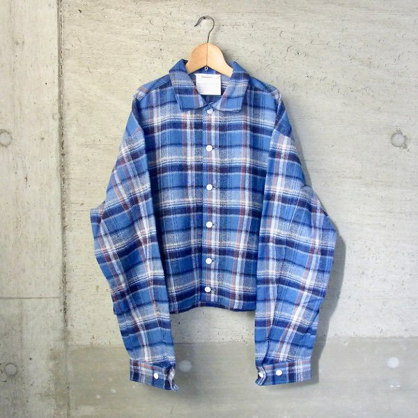 DIGAWEL | NEL CHECK BLOUSON(BLUE CHECK)