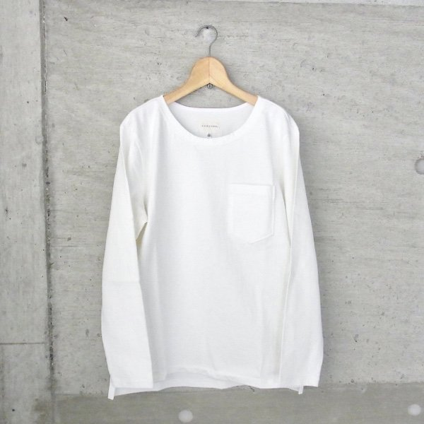 CURLY | BRIGHT LS TEE(WHITE)