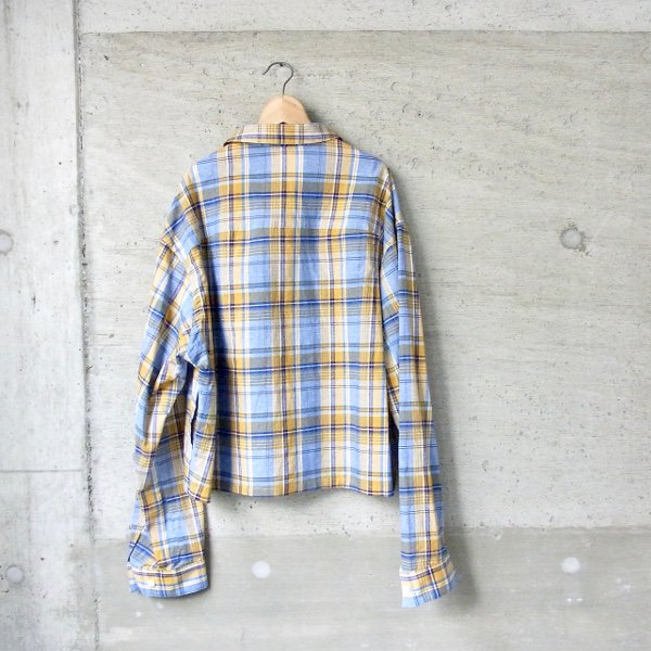 DIGAWEL | C/R CHECK BLOUSON(YELLOW CHECK)
