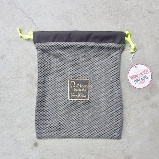 YOUNG & OLSEN The DRYGOODS STORE | OUTDOOR MESH POUCH(GREY)