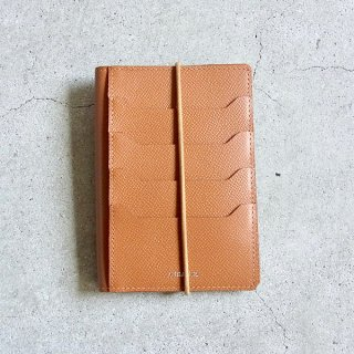 DIGAWEL | PASSPORT CASE CALF LEATHER(CAMEL)