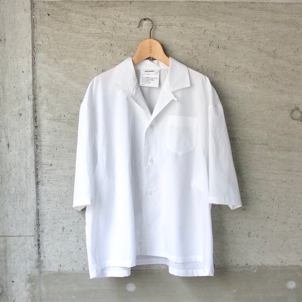 DIGAWEL | CAMP COLLAR S/S SHIRT(WHITE)