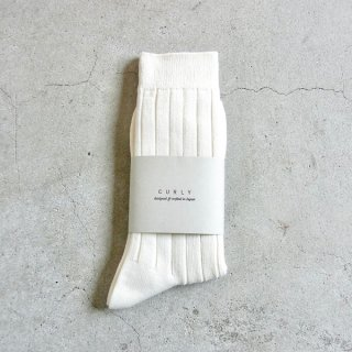 CURLY | BRIGHT RIB SOCKS(WHITE)