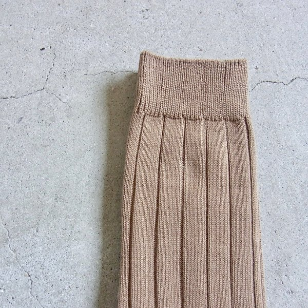 CURLY | BRIGHT RIB SOCKS(BEIGE)