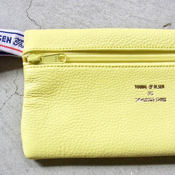YOUNG & OLSEN The DRYGOODS STORE | Y&O LEATHER POUCH M(LIME LIGHT)