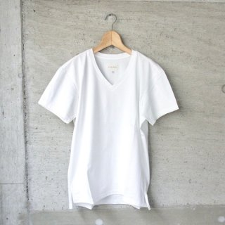 CURLY | ABN SS V NECK TEE(WHITE)