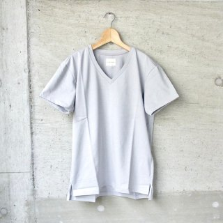 【20%OFFセール】CURLY | ABN SS V NECK TEE(LT.GRAY)