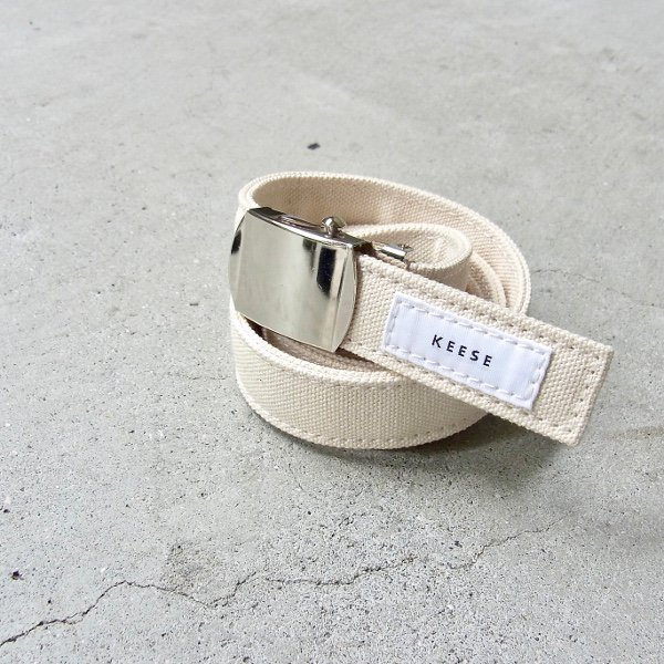 KEESE | CANVAS BELT S(NATURAL)