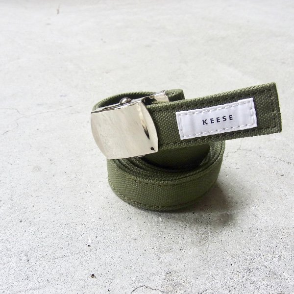 KEESE | CANVAS BELT S(OLIVE)