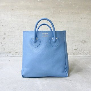 YOUNG & OLSEN The DRYGOODS STORE | EMBOSSED LEATHER TOTE M(BLUE JEAN)