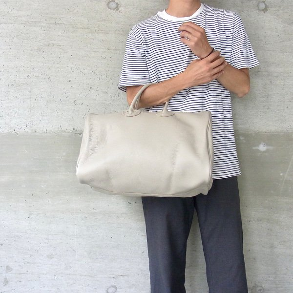 YOUNG & OLSEN The DRYGOODS STORE | EMBOSSED LEATHER BOSTON M(BEIGE)
