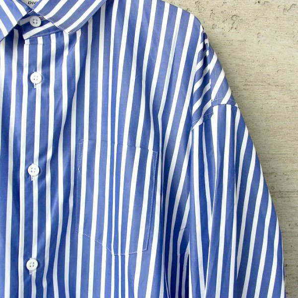 DIGAWEL | FRINGE SHIRT(BLOCK STRIPE)