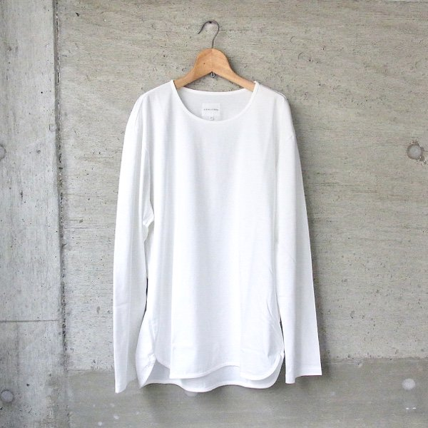 【40%OFFセール】CURLY | CCR LS CN TEE(WHITE)