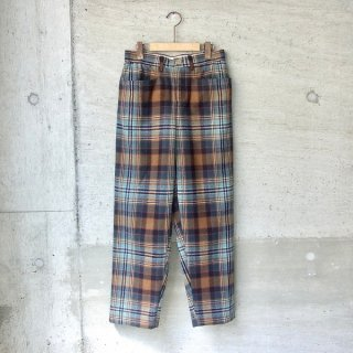 DIGAWEL | CHECK STRAIGHT PANTS(GREEN CHECK)