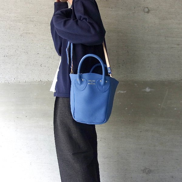 YOUNG & OLSEN The DRYGOODS STORE   PETITE LEATHER TOTE(BLUE JEAN)