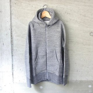CURLY   RAFFY ZIP PARKA(CHARCOAL)