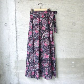 【40%OFFセール】YOUNG & OLSEN The DRYGOODS STORE | INDIAN WRAP SKIRT(BLACK)