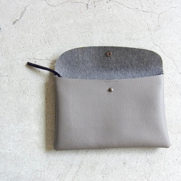 ippei takei | pouch M(leather gray)