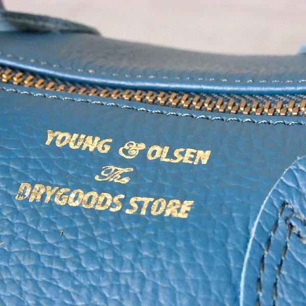 YOUNG & OLSEN The DRYGOODS STORE | EMBOSSED LEATHER BOSTON M(OCEAN)