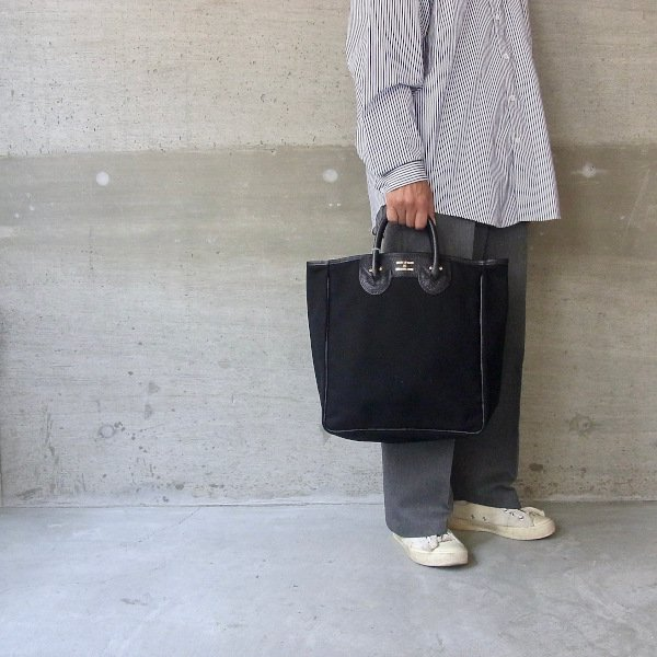 YOUNG & OLSEN The DRYGOODS STORE | CANVAS CARRYALL TOTE M(BLACK)