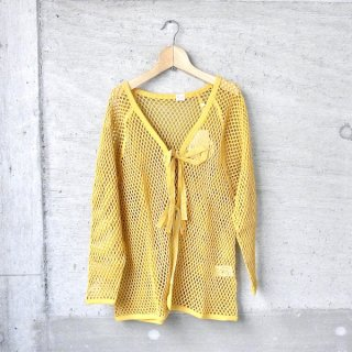YOUNG & OLSEN The DRYGOODS STORE | FISHERMAN MESH CARDIGAN(MUSTARD)