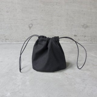 KEESE   DRAWSTRING POUCH(BLACK)